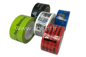 différents rubans adhésifs imprimés