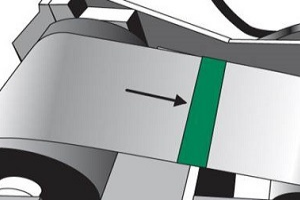 Dessin de raccord de bobine avec adhésif de couleur verte