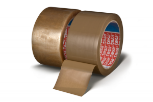 Rubans d'emballage Tesa couleur marron et transparent
