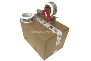 ruban adhésif imprimé personnalisé sur carton avec devidoir
