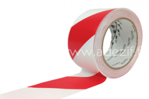 3M 767 ruban vinyle pour le marquage au sol hachuré blanc et rouge