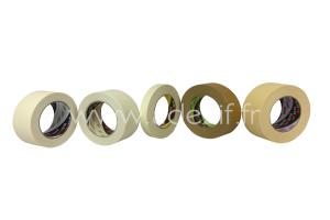 les 5 rubans de masquage papier 3M : 101E, 201E, 301E, 401E, 501E