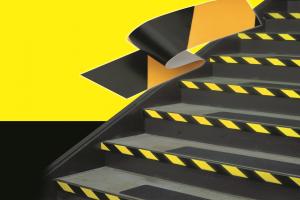 ruban adhésif antidérapant rayé jaune et noir 3M 766