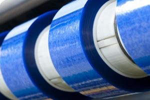 plusieurs Rubans adhésif largeur sur mesure petite quantité de couleur bleue