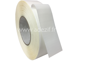 ruban adhésif transfert transparent avec trame polyester blanche adezif TF770