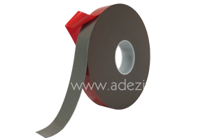 Ruban adhésif mousse acrylique pour pose à froid gris avec protecteur rouge ADEZIF M843