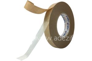 ruban adhésif double face non tissé avec protecteur kraft adezif 3400