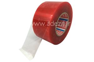 TESA 4965 ruban adhésif double face transparent avec protecteur film rouge