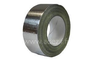 Ruban adhésif aluminium renforcé d'une trame de fil marque ADEZIF