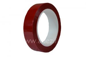 Ruban polyester rouge pour raccord papier siliconé ADEZIF PT891