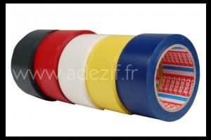 TESA 60760 ruban adhésif marquage au sol temporaire couleur noire, rouge, blanc, jaune et bleu