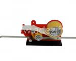 dévidoir métallique industriel pour rubans adhésifs 50 mm avec un bras coulissant gradué