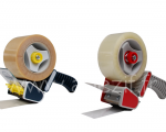 dévidoir pour ruban adhésif de 50 mm et 75 mm de large cote à cote