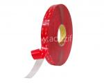 3M 4910 VHB transparent avec protecteur rouge