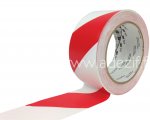 3M 767 Ruban adhésif en PVC pour marquage au sol de sécurité vinyle rayé rouge et blanc